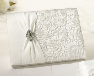 Wedding Guest Book Vintage Lace