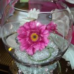 Fish Bowl Vase with Gerbera
