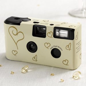 Disposable Camera Ivory & Gold