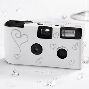 Disposable Camera White & Silver