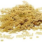 Just Married Confetti Gold
