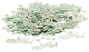 Just Married Confetti Silver