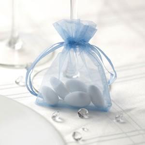 Organza Favour Bag Blue