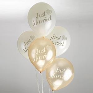Vintage Romance Balloons Ivory & Gold