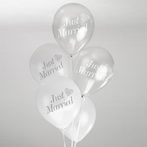 Vintage Romance Balloons White & Silver