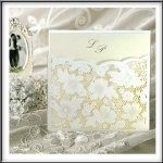 Wedding Invitations Lace & Pearl