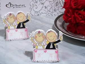 Bride and Groom Place Card Holder