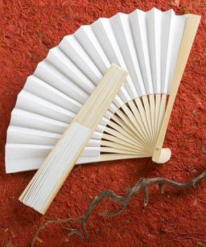 White Folding Fan