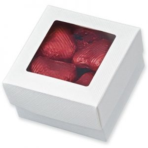 White Square Box Favour with Window